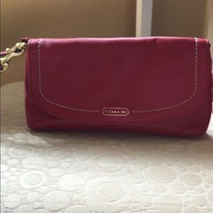 Coach apple red wristlet